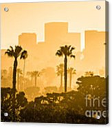 Newport Beach Skyline Morning Sunrise Picture Acrylic Print by Paul Velgos