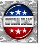Nice National Guard Shield 2 Acrylic Print by Pamela Johnson