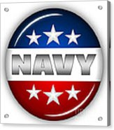 Nice Navy Shield Acrylic Print by Pamela Johnson