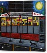 Night At An Arlington Diner Acrylic Print by Victoria Lakes