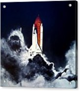 Night Launch Acrylic Print by Murphy Elliott