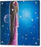 Night Of 50 Wishes Fairy Print By Shawna Erback Acrylic Print by Shawna Erback