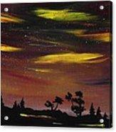Night Scene Acrylic Print by Anastasiya Malakhova