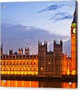 Nightly View - Houses Of Parliament Acrylic Print by Melanie Viola