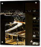 Nighttime Commute  Acrylic Print by Andrew Pacheco