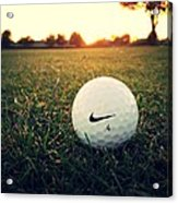 Nike Golf Ball Acrylic Print by Derek Goss