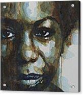 Nina Simone Acrylic Print by Paul Lovering