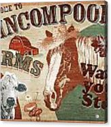 Nincompoop Farms Acrylic Print by JQ Licensing