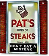 No Misteaks Acrylic Print by Benjamin Yeager