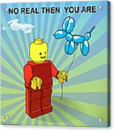 No Real Then You Are Acrylic Print by Mark Ashkenazi