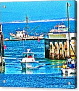No Wake Zone Gate Acrylic Print by Joseph Coulombe
