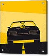 No051 My Mad Max Minimal Movie Poster Acrylic Print by Chungkong Art