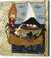 Noahs Ark. 16th C. Ottoman Art Acrylic Print by Everett