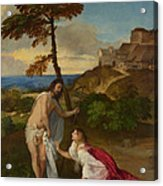Noli Me Tangere Acrylic Print by Titian