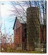 Non Working Barn Property Acrylic Print by Tina M Wenger