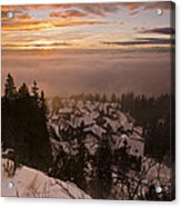 Norge Acrylic Print by Aaron S Bedell