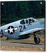 North American P-51 Mustang Acrylic Print by Chris McKenna