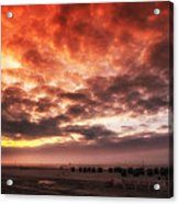 North Sea Sunset Acrylic Print by Mountain Dreams