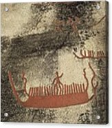 Norway. Begby. Boats 1000 Bc. Bronze Acrylic Print by Everett