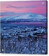 Norwegian Arctic Twilight Acrylic Print by David Broome
