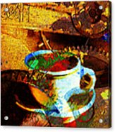 Nothing Like A Hot Cuppa Joe In The Morning To Get The Old Wheels Turning 20130718 Acrylic Print by Wingsdomain Art and Photography