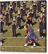 Notre Dame Band Acrylic Print by David Bearden