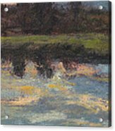 November Reflection - Hudson Valley Acrylic Print by Gregory Arnett