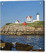 Nubble In The Day 16x20 Acrylic Print by Geoffrey Bolte
