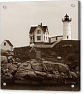 Nubble Light Acrylic Print by Skip Willits