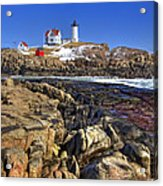 Nubble Lighthouse Acrylic Print by Joann Vitali