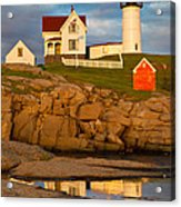 Nubble Lighthouse No 1 Acrylic Print by Jerry Fornarotto