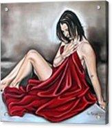 Nude Seventy Six Of Seven Acrylic Print by Ilse Kleyn
