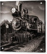 Number 4 Narrow Gauge Railroad Acrylic Print by Bob Orsillo