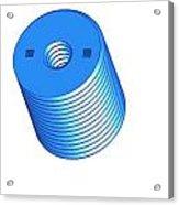 Nut 3d -- Mechanical Brick Acrylic Print by Pop Horea-Vasile