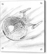 Nx-01 Enterprise Acrylic Print by Michael Penny