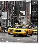 Nyc Yellow Cabs - Ck Acrylic Print by Hannes Cmarits