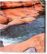 Oak Creek At Slide Rock Acrylic Print by Carol Groenen