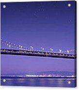 Oakland Bay Bridge Acrylic Print by Aged Pixel