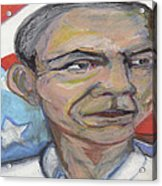 Obama 2012 Acrylic Print by Derrick Hayes