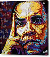 Obama Acrylic Print by Maria Arango
