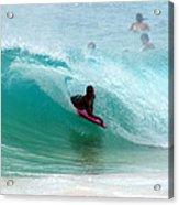 Obama's Boyhood Bodysurfing Beach Acrylic Print by Kevin Smith
