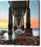 Ocean Beach California Pier 2 Acrylic Print by Larry Marshall