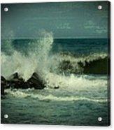 Ocean Impact - Jersey Shore Acrylic Print by Angie Tirado