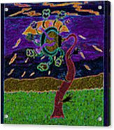 Ocean Side Flower At Sun Set    V3 Acrylic Print by Kenneth James