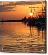 Ocean Sunset 3rd Acrylic Print by Shirley Sirois