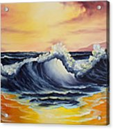Ocean Sunset Acrylic Print by C Steele