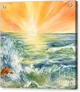 Ocean Waves IIi Acrylic Print by Summer Celeste