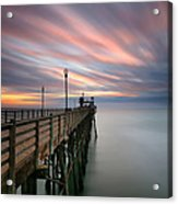 Oceanside Sunset 14 Acrylic Print by Larry Marshall