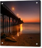 Oceanside Sunset 15 Acrylic Print by Larry Marshall