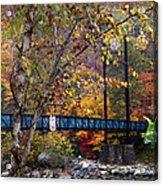 Ocoee River Bridge Acrylic Print by Debra and Dave Vanderlaan